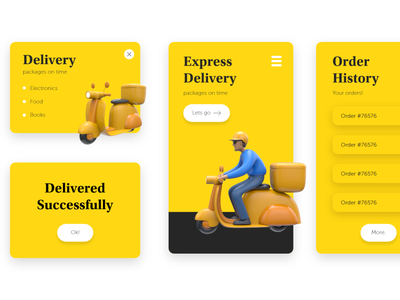 The Delivery typography ux graphic design ui character creative artwork design art illustration
