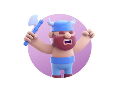 Viking 3d illustartion artist drawing graphic design character designer creative artwork design art illustration