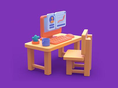 the Desk artist daily cinema4d 3d art graphic design designer creative artwork design art illustration