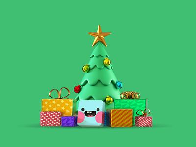 Christmas tree dribbble drawing artist 3d art design artwork graphic design designer creative art illustration