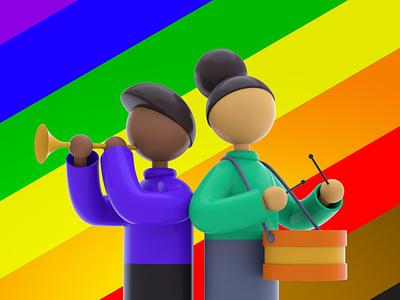 The Peace digitalart designs colours daily 100 challenge dailyui octane illustrator creative design cinema4d 3dart dribbble graphic design artist character designer creative artwork design art illustration