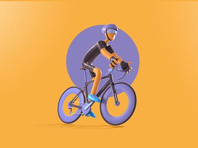 Cadence visual design riding character design sports cycling creative design 3d art daily graphic design artist character designer creative artwork design art illustration