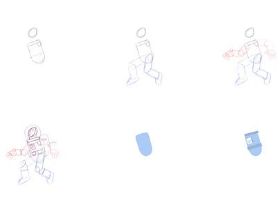"""Into Mailbox"" illustration process tutorial process webdesign ui design ux ui space mailbox astronaut character design dribbble daily graphic design artist character designer creative artwork design art illustration"