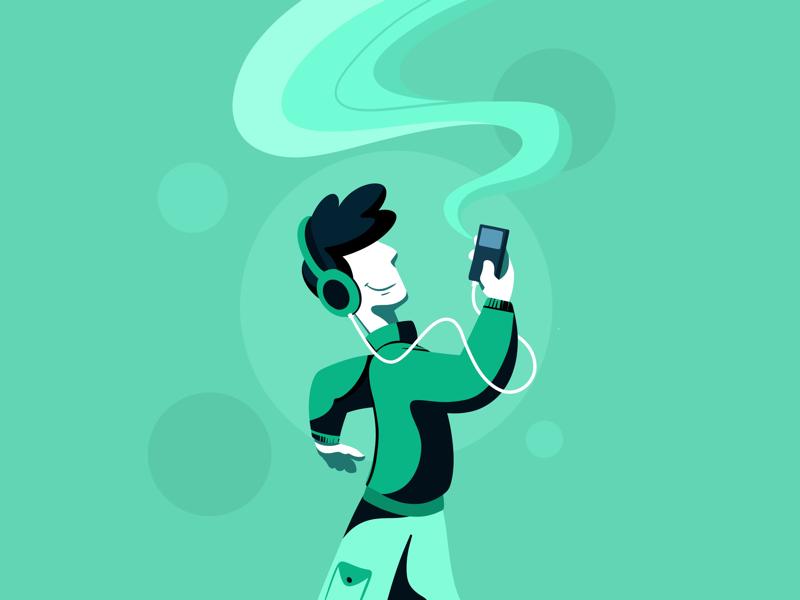 The Music creative character dribbble illustration graphic design designer design artwork artist art