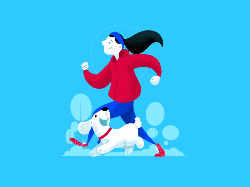 jogging creative character dribbble illustration graphic design designer design artwork artist art