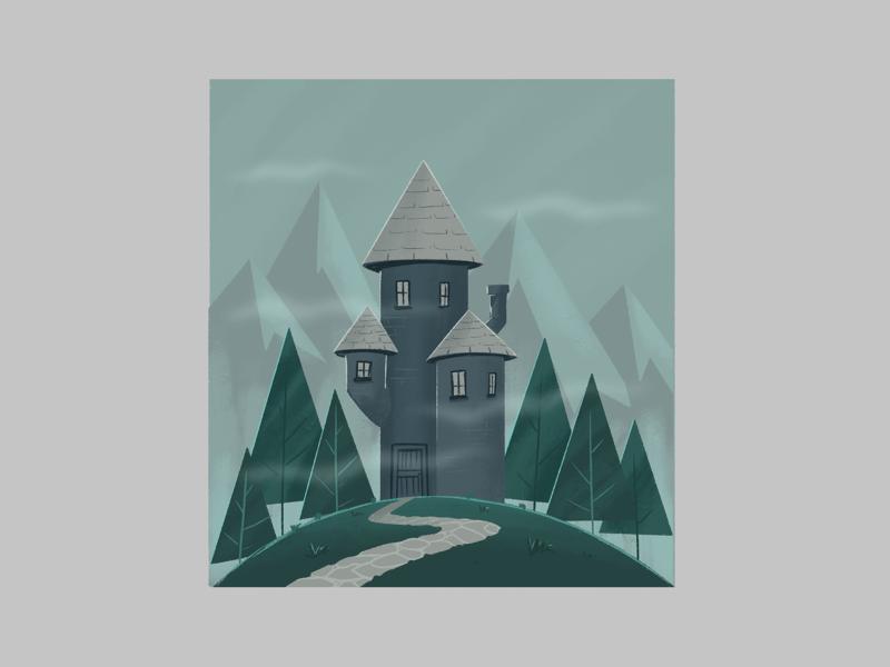 Castle creative character dribbble illustration graphic design designer design artwork artist art