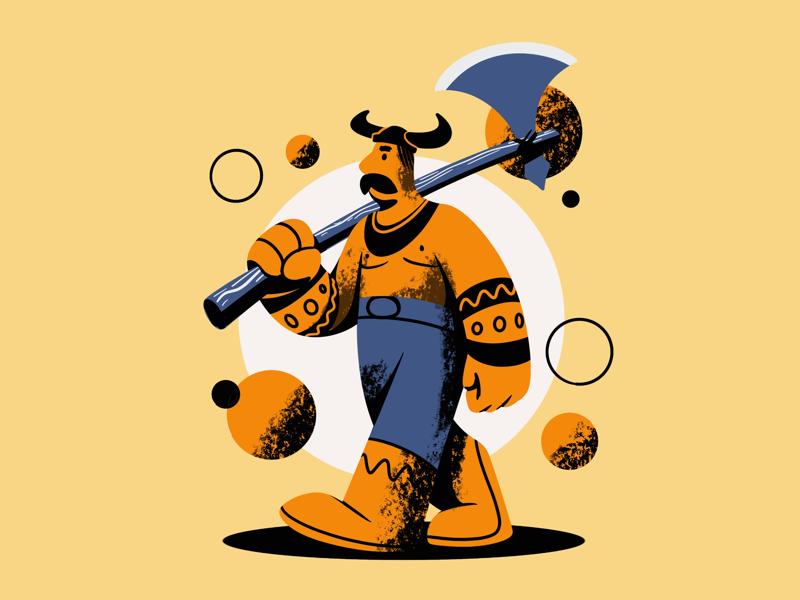 The Viking creative character daily illustration graphic design designer design artwork artist art