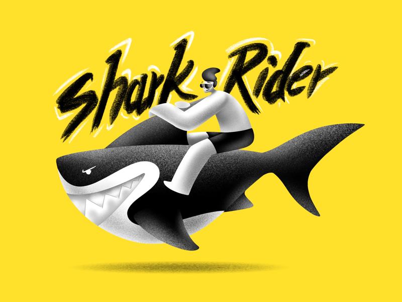 The Shark Rider creative character daily illustration graphic designer design artwork artist art