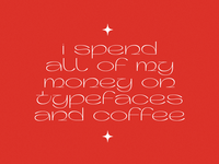 Typefaces and coffee. red serif typeface typography typefaces type quote design quote