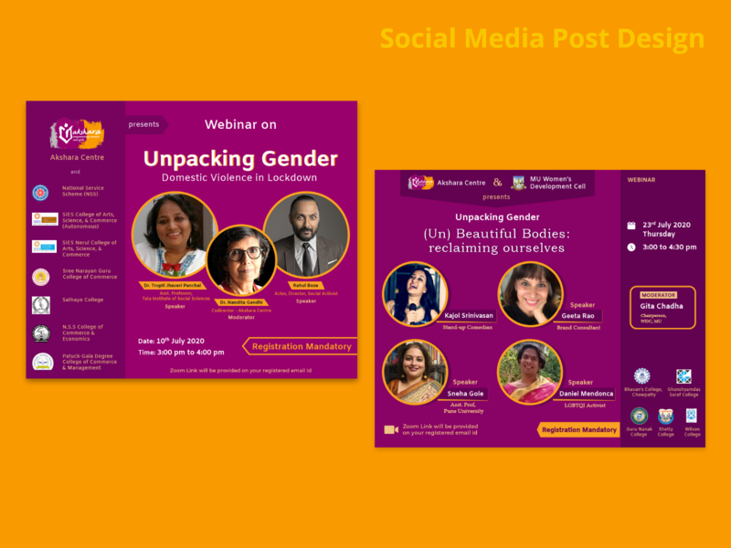 Akshara Webinar Invite domestic violence gender equality ngo nonprofit event design poster artwork graphic design invite webinar