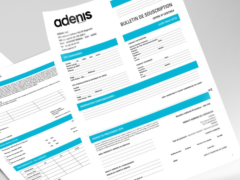 Fillable PDF Contract Forms - Adenis by More By Maria on Dribbble