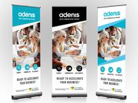 Roll Up Banner Design - Adenis, France