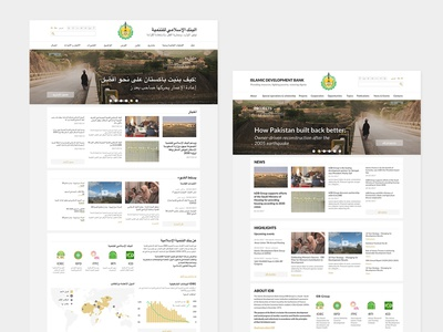 Website concept for financial organization