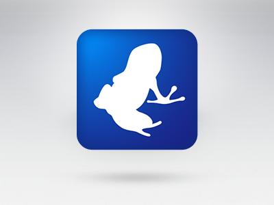 Vuze app icon icon torrent frog illustration app silhouette simple
