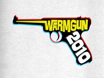 Warm Gun 3D gun luger illustration