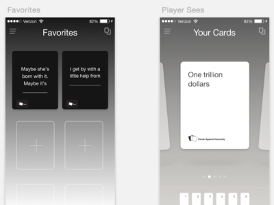 Cards Against Humanity app comps