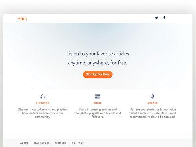 Hark Web Landing Update hark xprocrastinationcontest