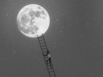 moon exhibition myjonze dream poster illustration moon thejonze