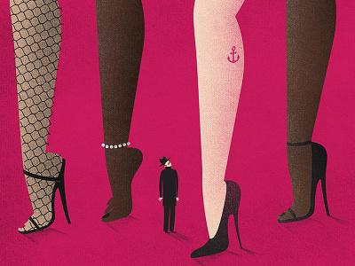 ladies high heels confusion exhibition poster legs ladies