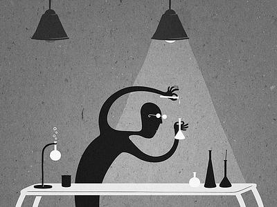 laboratory jonzito greyscale illustration laboratory thejonze