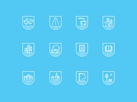 icon set to interactive map for Słupsk Town