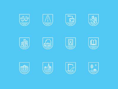icon set to interactive map for Słupsk Town icon set icon slupsk icons