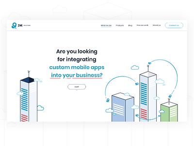 jouret mobile solutions illustration webdesign subpage website ui