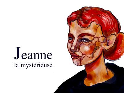 Jeanne la mystérieuse drawing girl woman painting illistration