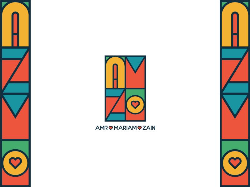 Amr ❤️ Mariam ❤️ Zain love vectors vector illustration vector art vector illustration brand identity logotype logo design logodesign illustrator design branding design branding brand design brand adobe illustrator adobe logos logo