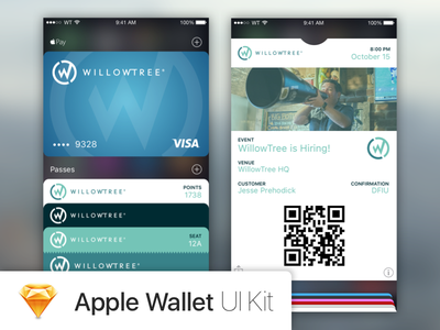 Apple Wallet UI Kit Template apple pay sketch apple wallet ui kit