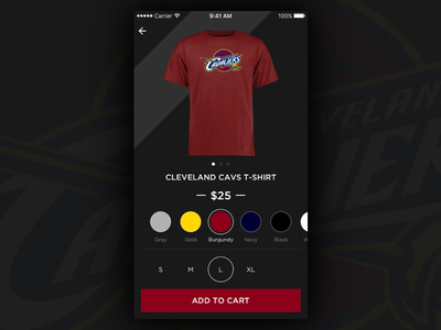 Daily UI #001 cleveland cavs cavs app iphone shopping ecommerce dailyui