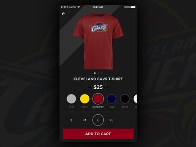 Daily UI #001 cleveland cavs cavs app iphone shopping ecommerce dailyui