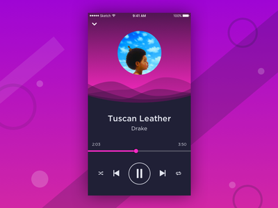 Daily UI #002 drake ui player music concept dailyui mobile iphone ios