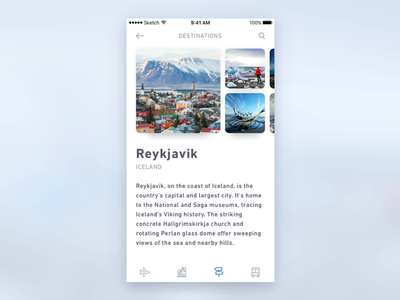 Daily UI #003 travel mobile iphone ios dailyui concept