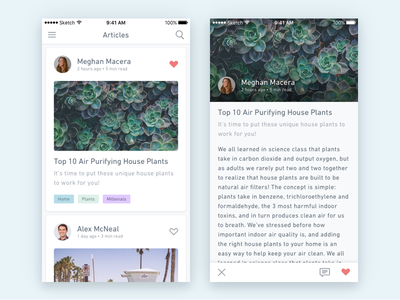 Daily UI #005 plants article iphone ios dailyui concept