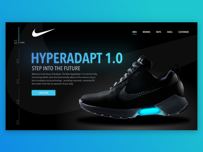 Daily UI #006 shoe navigation nike web dailyui concept