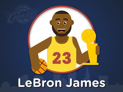 Lebron James Illustration nba vector illustration cleveland cleveland cavaliers cavaliers cavs lebron james lebron basketball