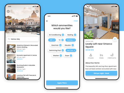 Daily UI #010 airbnb home italy vacation travel app mobile ios iphone concept dailyui