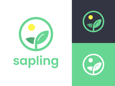 Sapling Logo illustration concept plants identity mark branding logo