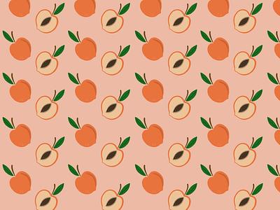 I got my peaches out in Georgia Pattern Illustration (Wallpaper) drawing procreate draw print designinspiration designer creative dribbble orange fruit pattern illustrator graphic branding vector design illustration wallpaper peaches peach