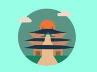 Tōdai-ji Temple - Icon Illustration