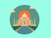 The Taj Mahal - Icon Illustration