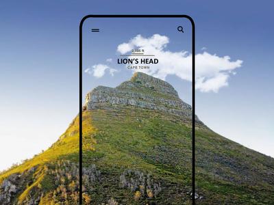 Mobile UI Design - Lion's Head, Cape Town
