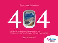 FlySafair 404 Page (Concept Design)