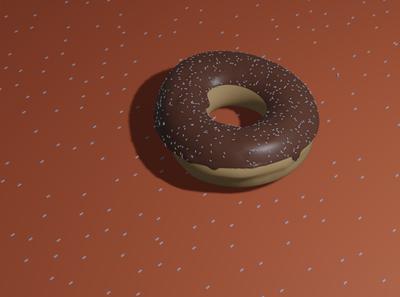 Donut - Done with Blender 3D 3d artist 3d art new year 2020 blender3d blender 3d illustration dribbble design