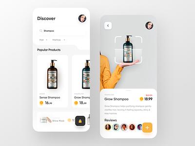 Beauty Product App color trendy uiux app design minimal uidesign trend design ux ui