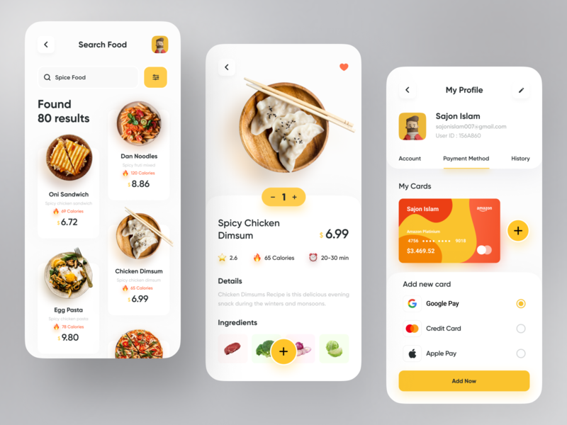 Food Delivery App trend top app design vegetable search bar illustration cart profile restaurant colourful card design food design food delivery application food delivery service food delivery app food delivery popular dribbble best shot dribbble