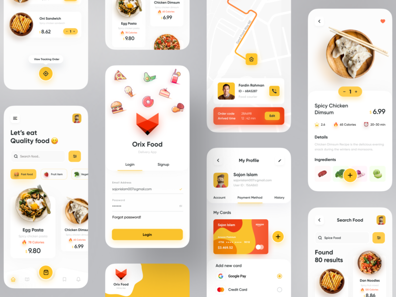 Food Delivery App colorful popular shot popular dribbble best shot app uiux app design trend minimal restaurant branding restaurant app restaurants restaurant food delivery food delivery application food delivery service fooddesign fooddelivery food delivery app food design