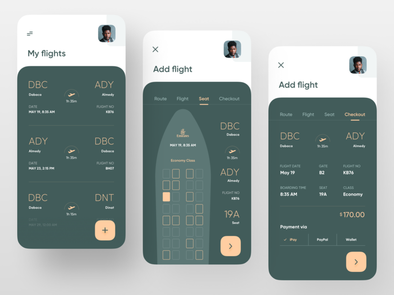 Boarding Pass App. top design popular design dribbble best shot trendy ui ux trend minimal plane ticket air ticket airlines airplane airport airline plane boarding boardingpass boarding pass