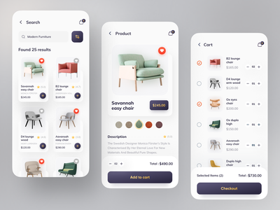 Furniture App By Orix animation app ui clean design minimal app project colorful wireframes wireframe project app design best shot popular design popular shot popular dribbble best shot dribbble furniture design furniture store furniture app furniture
